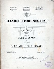 O Land Of Summer Sunshine - Song in C Major