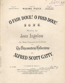 O Fair Dove O Fond Dove - Song in the key of A flat for Soprano or Tenor