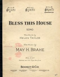 Bless This House - Key of E flat major for high voice