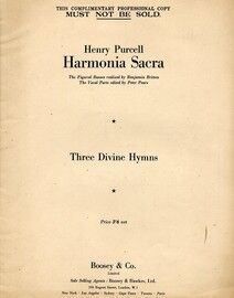 Harmonica Sacra - Three Divine Hymns - For Voice and Piano