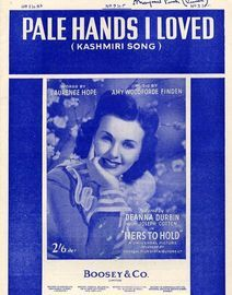 Pale Hands I Loved -  Kashmiri song - Deanna Durbin in