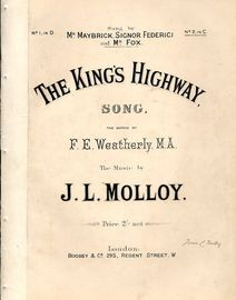 The King's Highway - Song in the key of C major for higher voice