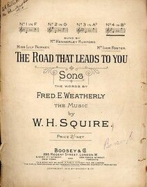 The Road That Leads To You - Song in the key of B flat major for Higher voice