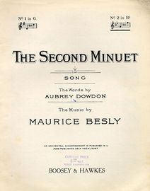 The Second Minuet - Key of B flat major for high voice
