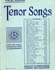 Tenor Songs - Standard Vocal Albums - Staff & Sol Fa notations with accompaniments
