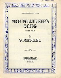 Mountaineers Song - Op. 31, No. 3- Grafton Classics No. 29