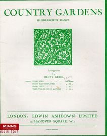 Country Gardens - Piano Solo (Handkerchief Dance) - Transcribed from Morris Dance Tunes