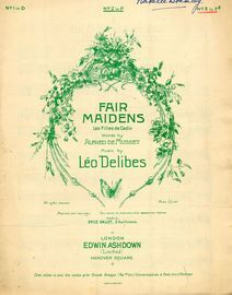 Fair Maidens (Les Filles de Cadix) - Song with English and French Words in the key of F Sharp minor (3 Sharps)