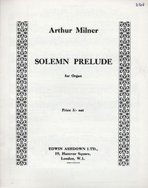Solemn Prelude - For Organ