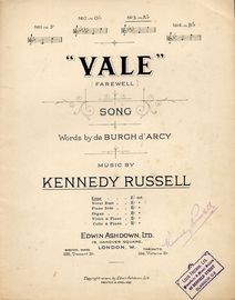 Vale (Farewell) - Song - In the key of A flat major