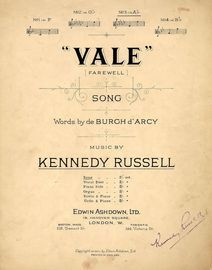 Vale (Farewell) - Song in the key of A flat