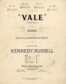 Vale (Farewell) - Song - In the key of G flat major