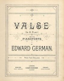 Valse in A flat major - For Piano Solo