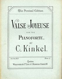 Valse Joyeuse for the pianoforte