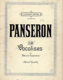 12 Vocalises for Mezzo-Soprano with Piano accompaniment - Augeners Edition No. 6808