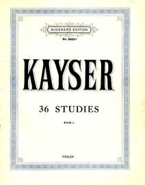 36 Violin Studies. Book I -  Augeners Edition No. 8662a