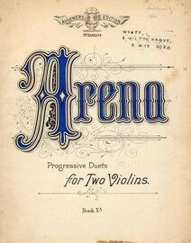 Arena - A Collection of Duets for Two Violins - Augener's Edition No. 11810A - Book XA.