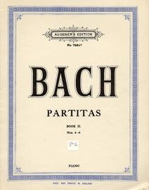 Bach Partitas -  Book II, Nos. 4 to 6 - Augeners Edition No. 7981b