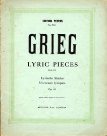 Lyric Pieces - Heft III -  Op.43 - Piano Solo - Edition Peters No. 2154