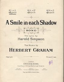 A Smile in each shadow - Song - In the key of C major for low voice