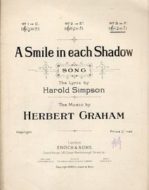 A Smile in each shadow - Song - In the key of F major for high voice