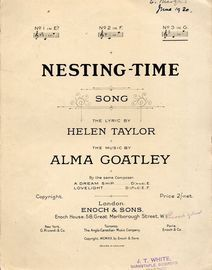 Nesting Time - Song - In the key of G major for high voice