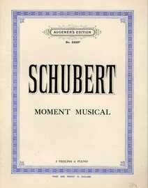 Schubert - Moment Musical - 3 Violins & Piano - Augener's Edition No. 5222b