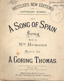 A Song of Spain - No. 2 in D for Low Voice