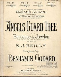 Angels Guard Thee - Performed by  Madame Albani and Mr Reginald Groome - Key of E flat major for high voice