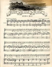 Ride Ride Ride - A Border Ballad in Key of B flat