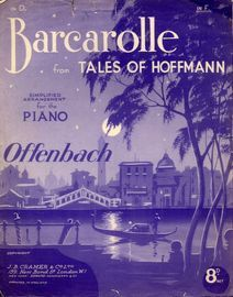 Barcarolle  - From The Tales of Hoffmann - For piano