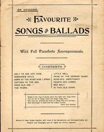 Favourite Songs and Ballads - With Full Pianoforte Accomampaniments - 4th Series