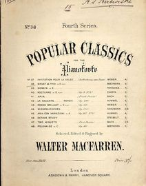 Minuet and Trio in E flat - Popular Classics for the Pianoforte Fourth Series, Series No. 38