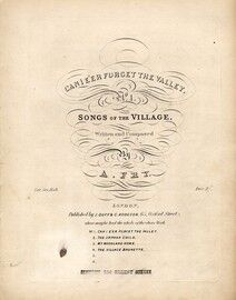 Can i eer Forget the Valley, Songs of the Village No 1