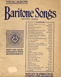 Baritone Songs - Second Series - The Standard Vocal Albums Edtion with Staff and Sol Fa Notations and Accompaniments