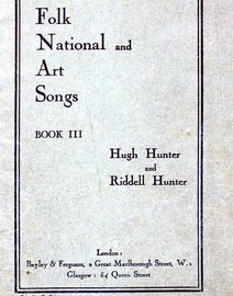 Folk National and Art Songs - Book III - School Edition - Solfa