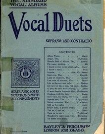 Vocal Duets - Soprano and Contralto - The Standard Vocal Albums Series - Book One - Staff and Sol-Fa Notations with accompaniments