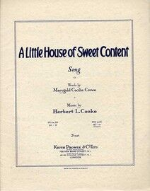A Little House of Sweet Content - Song in the key of E flat major for high voice
