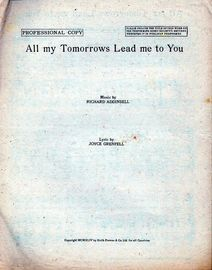 All My Tomorrows Lead Me to You - Song