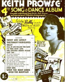 Keith Prowse'  4th Song & Dance Album - Complete with Words, Tonic Sol-Fa, Ukulele and Full Piano Accompaniment
