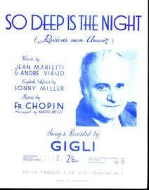 So Deep is the Night (Reviens Mon Amour) - For Piano and Voice in the key of E flat major - Featuring Gigli