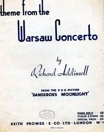 Theme from the Warsaw Concerto - Piano Solo - From the film
