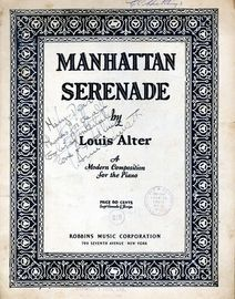 Manhattan Serenade - A modern Composition for the Piano