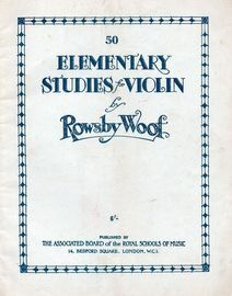 50 Elementary Studies for Violin