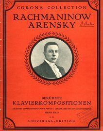 Rachmaninow / Arensky - Beruhmte Klavierkompositionen (Celebrated Piano Compositions) - Corona Collection No. 75 for Piano - Featuring Rachmaninow