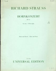 Richard Strauss Hornkonzert - E Flat Major - Op. 11 - Horn Und Klavier - Universial Edition No. 1039