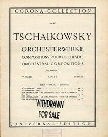 Tschaikowsky - Orchesterwerke - Orchestral Compositons - 1st Book - Piano Solos - Corona Collection edition no. C. 67