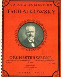 Tschaikowsky - Orchesterwerke - Orchestral Compositons - 2nd Book - Piano Solos - Corona Collection edition no. C. 68