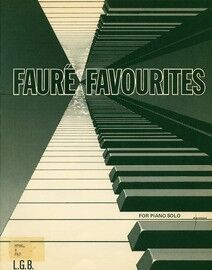 Faure Favourites - For Piano Solo