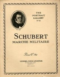 Schubert - Marche Militaire -  Piano Solo - Op. 67 - No. 4 - The Portrait Gallery No. 16